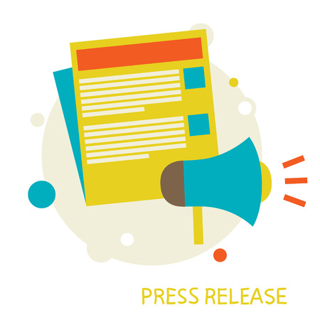 press release: vector illustration in a flat style  Press Release  Eps 10 Illustration