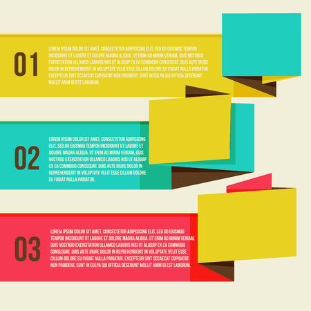 Flat Modern Curve colorful Design template numbered banners. You can be used for infographics, numbered banners, horizontal cutout lines, graphic or website layout vector Vector