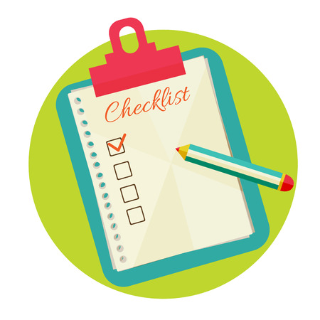 Vector illustration of check list. Vector
