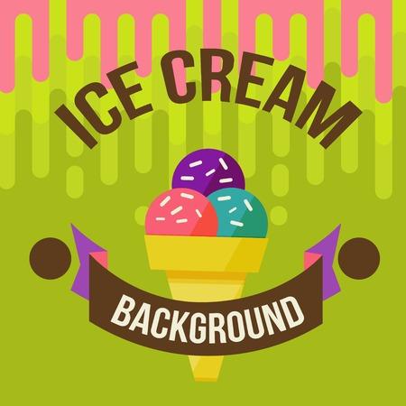 Retro ice cream poster.  illustration of vintage ice cream sign. illustration