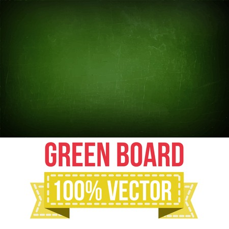 Green board with text on chalkboard Vector Vector