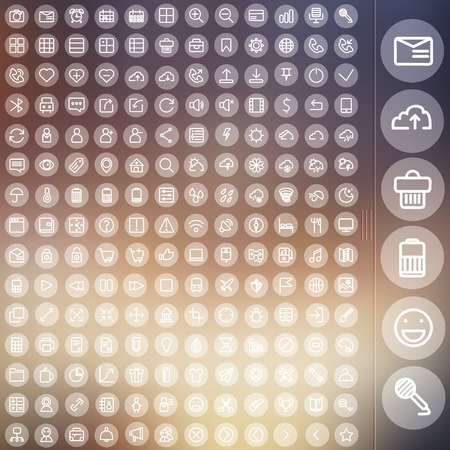 vector set of icons for web and user interface design Vector