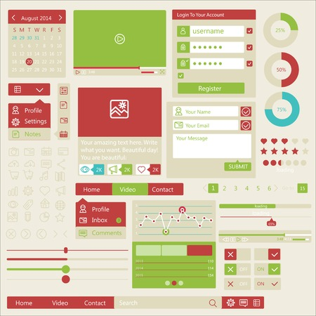 preview: user interface flat design elements