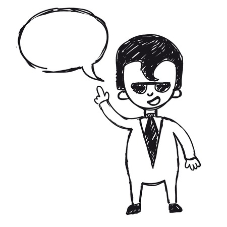 businessman says, taxing empty for text Illustration