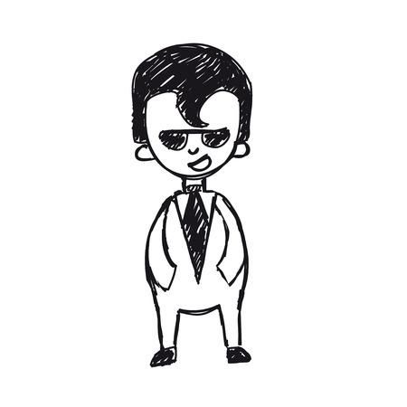 genial: businessman says Illustration