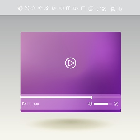 mobile apps: video player for web and mobile apps Illustration