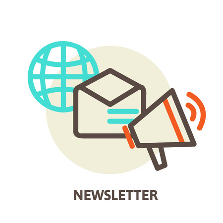Vector email marketing concepts newsletter and subscription Vector