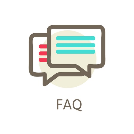 concept icons services and apps. Icons for faq, support, contact