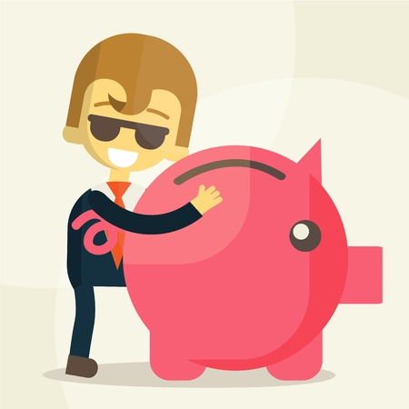 Business man  save money Vector