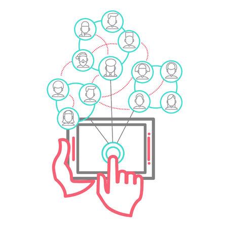 Social Networking People Conceptual Vector Design Vector
