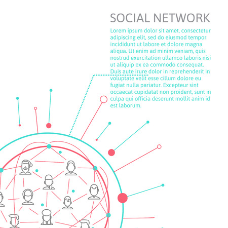Social Media Circles, Network Illustration, Vector, Icon Vector