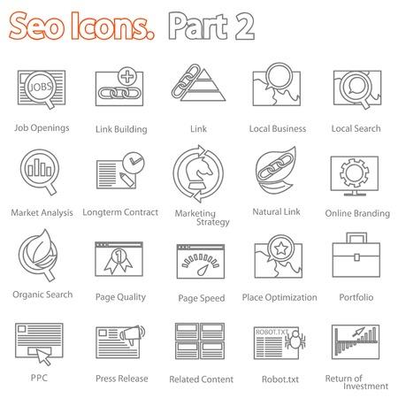 SEO icons set part 2 Vector