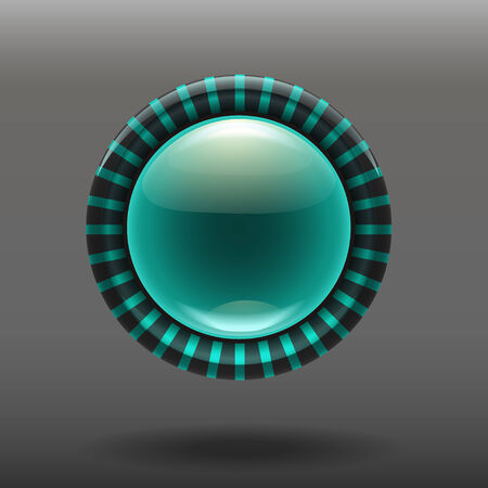 shiny buttons: Blue shiny glass buttons for your design. vector illustration eps 10