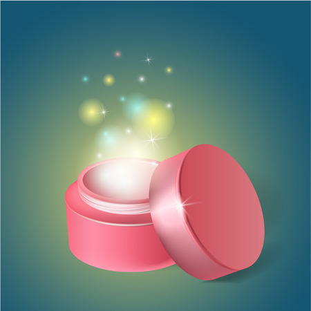 miracle: Jar with cosmetics, jar with a miracle cream.