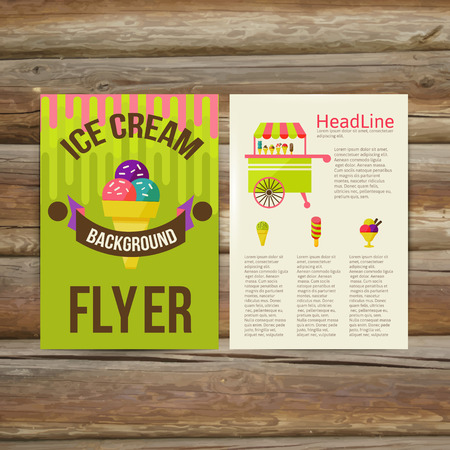 Abstract  Brochure Flyer design vector template. stylish ice cream, vector illustration
