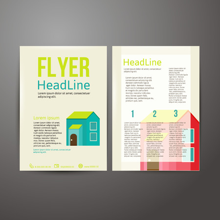 abstract brochure flyer design template vector illustration royalty