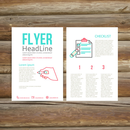 checklist: Abstract  Brochure Flyer design template, checklist.  vector illustration Illustration