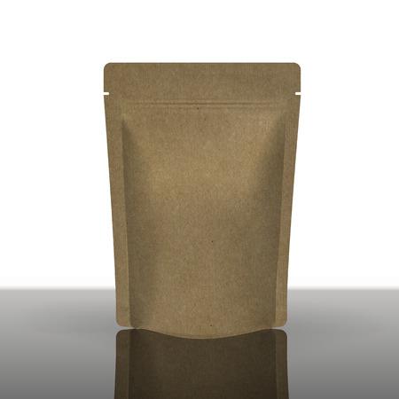 Mockup Foil Food Bag Package  일러스트