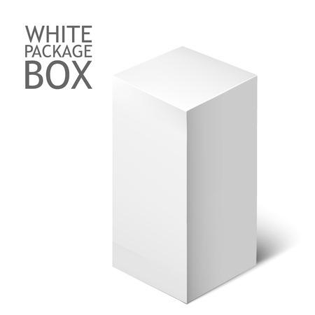 software box: Cardboard Package Box. White Package Square For Software, DVD, Electronic Device And Other Products.  Mock Up Template Ready For Your Design.  Vector Illustration  Isolated On White Background.