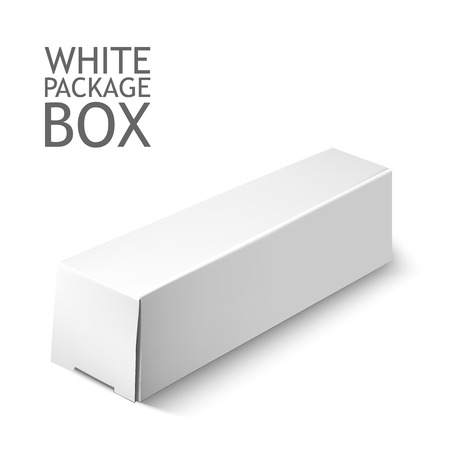 box: Cardboard Package Box. Set Of White Package Square For Software, DVD, Electronic Device And Other Products.  Mock Up Template Ready For Your Design.  Vector Illustration  Isolated On White Background.