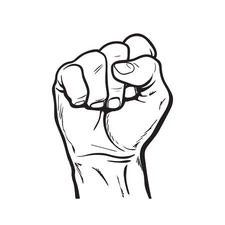 Gebalde vuist. Hand gebalde vuist. Vector Illustratie