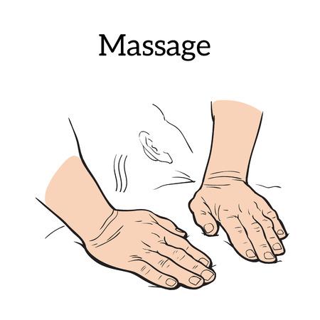 chiropractor: Hand massage, back massage, body massage.