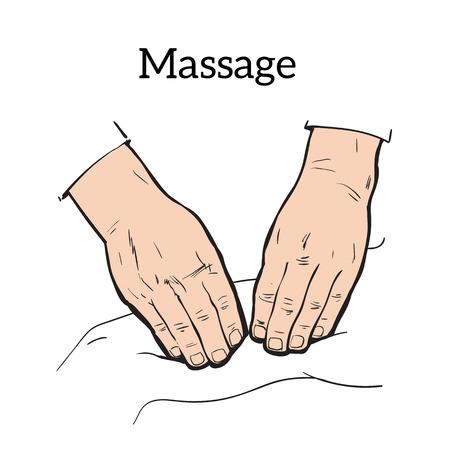 masseur: Hand massage, back massage, body massage.