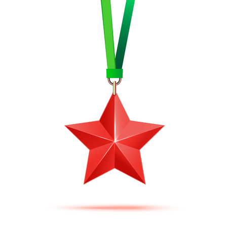 star award: Realistic 3D red star. Award winner.