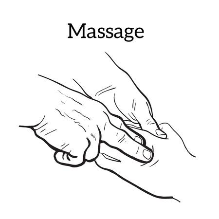 body massage: Hand massage, skin massage, body massage.