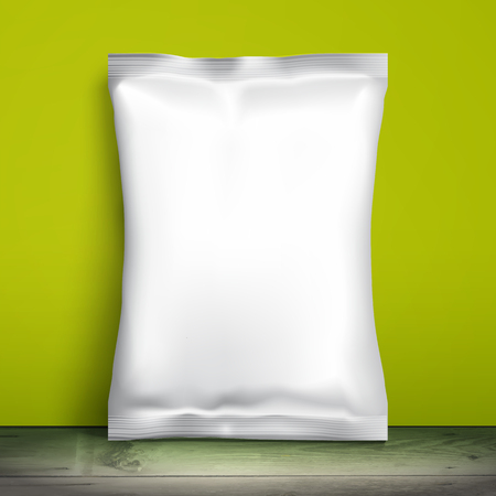 pack ice: Blank white packaging. Illustration