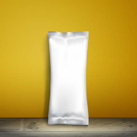 ice pack: Blank white packaging. Illustration