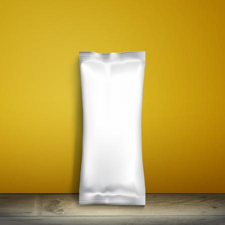 Blank white packaging. Illustration