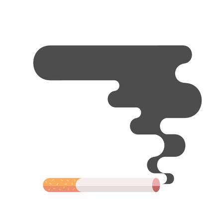 harm: Icons about smoking, vector illustration flat, the dangers of smoking, health problems due to smoking, pregnant woman, nicotine dangerous smoke, danger to life and limb due to nicotine Illustration