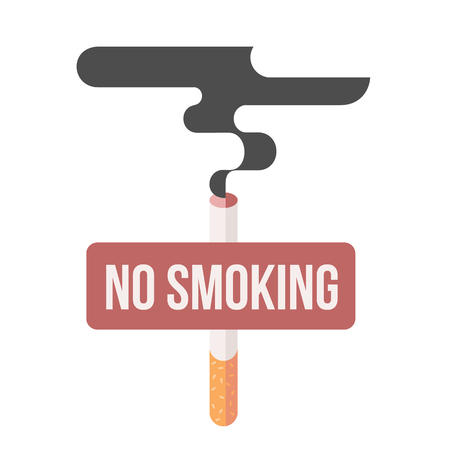 cigar smoking man: Icons about smoking, illustration flat, the dangers of smoking, health problems due to smoking, nicotine dangerous smoke, danger to life and limb due to nicotine