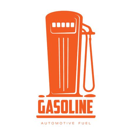 filling: petrol station logo, vector illustration flat logo isolated on a white background, contour petrol filling station, filling machine logo, a symbol of gasoline filling stations