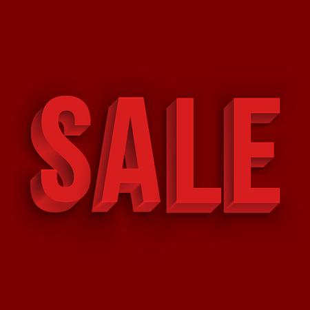realistic levels have inscriptions on discounts. 3d inscription Sale. Volumetric white Sale lettering for advertising and promotion on a light background. Empty space for your text. Stock Photo