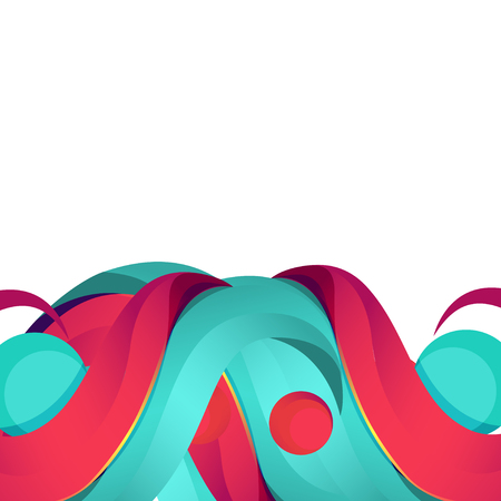 Colorful abstract background for your advertising. Empty space for text with colored abstract swirls, pink and blue. Unusual beautiful curls with place for your message Stock Photo