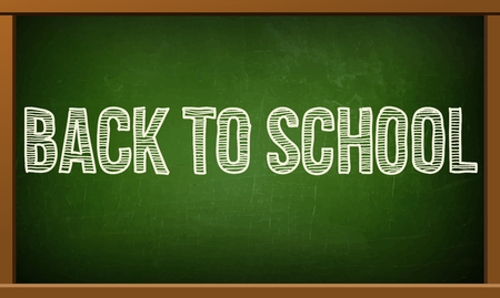 noticeboard: stock  back to school poster with text on chalkboard  illustration