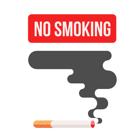 nicotine: Icons about smoking, illustration flat, dangers of smoking. health problems due to smoking, nicotine dangerous smoke. danger to life and limb due to nicotine