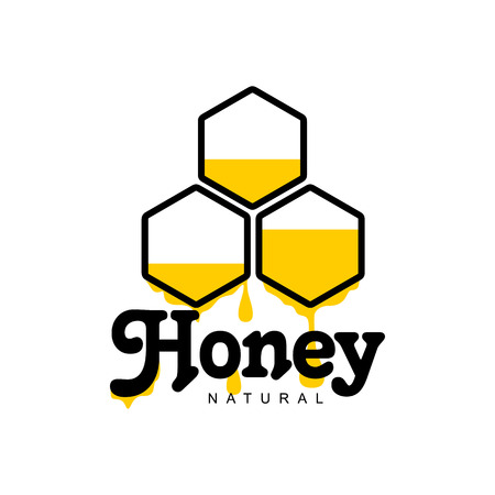 honey comb: Honeycomb apiary, sketch style vector illustrations isolated on white background. Hand-drawn honey comb for honey products, labels, bee farms and apiaries