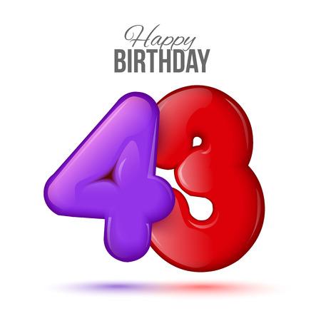 Открытка с днем рождения 43 года женщине