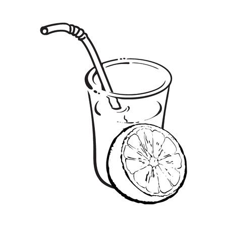 181 Orange Cut Half A Glass Orange Juice Cliparts Stock Vector And