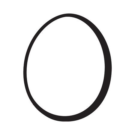 皮をむいた、unshelled 鶏の卵、ゆで卵、単一の全体は、白い背景で隔離のスタイル ベクトル図をスケッチします。手描き、スケッチのシングルは、ゆ  イラスト・ベクター素材