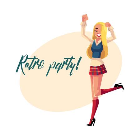 cb84023e7bcf Retro disco party invitation