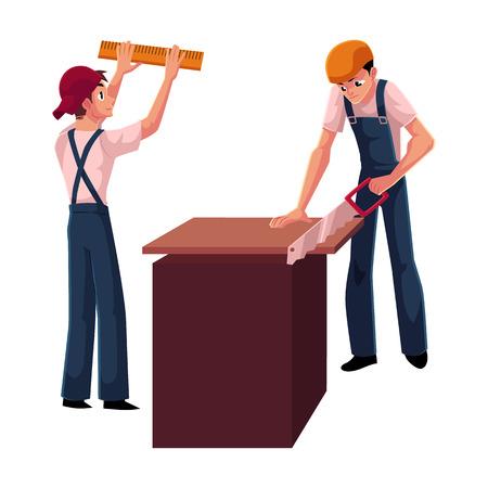 deux travailleurs de la construction Vecteurs