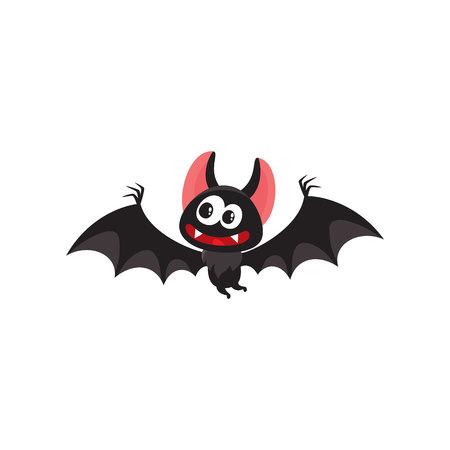 Halloween set - pointed hat, caldron, jack o lantern, spider, bat, zombie, decoration elements, cartoon vector illustration isolated on white background. Set of cartoon Halloween objects, decorations Çizim