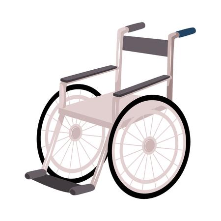 Medische revalidatie, herstel na trauma, niet meer nodig voor rolstoel of krukken, cartoon vectorillustratie op witte achtergrond. Rehabilitatie, herstel na rolstoel, krukken Stock Illustratie