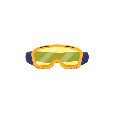 vector snowboarding goggles ,mask flat icon. Isolated illustration on a white background. Snowboard, ski winter activity equipment, tools object design.