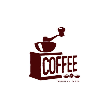 decaf: Vector coffee grinder, mill . Coffee concept flat icon. line icon illustration isolated on a white background.