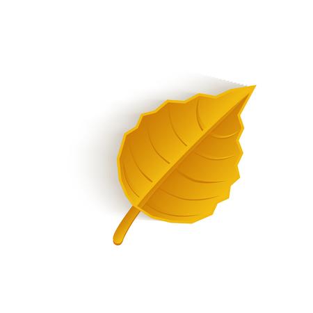 vector cartoon autumn fallen oak leaf isolated icon symbol. Illustration on a white background. Autumn object concept 向量圖像
